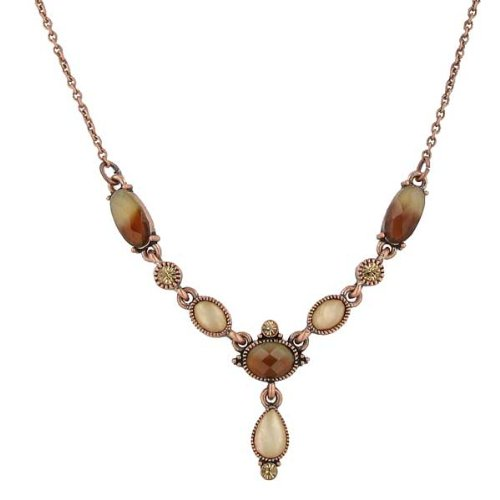 Casablanca Copper Teardrop Necklace