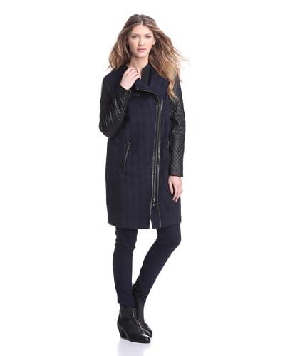 W118 by Walter Baker Outerwear Women's Millie Asymmetrical Mixed Media Coat