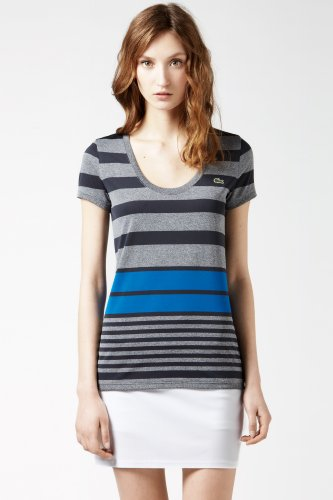 Short Sleeve Graded Technical Stripe T-shirt