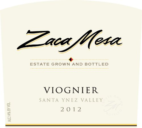 2012 Zaca Mesa Winery Viognier Santa Barbara County, Santa Ynez Valley 750 Ml
