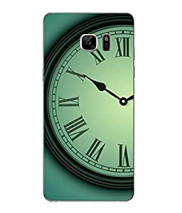 Case Cover Time Printed Green Hard Back Cover For Samsung Galaxy Note 7