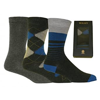 Wolsey 3-Pack Cotton Socks Gift-Set, Grey Size: One Size