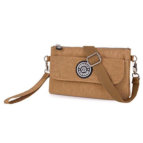 TianHengYi Womens Multi-purpose Nylon Wristlet Handbag Clutch Purse Cellphone Bag with Shoulder Strap Khaki (Samsung Galaxy A5 Mini compare prices)