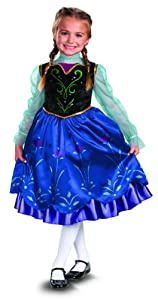 Disguise Disney's Frozen Anna Deluxe Girl's Costume, 4-6X