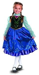 Disguise Disney's Frozen Anna Deluxe Girl's Costume, 7-8