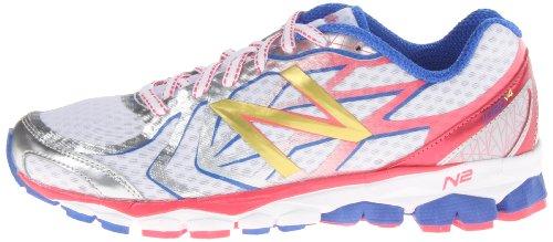 888098227086 - New Balance Women's W1080 Running Shoe,White/Pink,8 D US carousel main 4