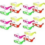 20 Pairs - Prism Diffraction Fireworks Glasses - For Laser Shows, Raves