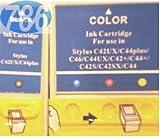 1 Full Set : 2 High Capacity Compatible InK Cartridges T036 T037 for Epson Stylus C42 C42UX C42+ C42S C42SX C44 C44UX C44+ C46 Printers