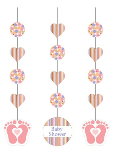 Party Hanging Cutouts - Pink Tiny Toes - 3 pieces