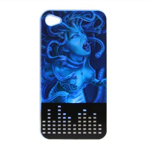Greenery 3D Stück Medusa Schutz Schutzhülle Cover für iphone 4 / 4s (mit 3D Aufdruck der Farbe Flash Led-Lampe, die bei eingehenden Anrufen aufleuchtet (wechselnde