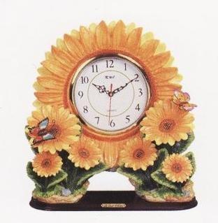SUNFLOWER 3D Shelf Mantle Clock w/ GREAT Detail *NEW*!
