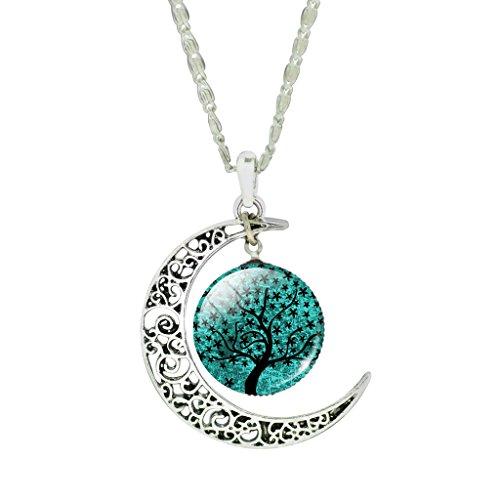 Jiayiqi Gioielli Donne Splendente Cielo Stellato Grande Albero Modello PiÙ Nuovo Progettazione Mezzaluna Luna Collana Girocollo