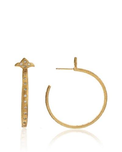 Rivka Friedman Faux Diamond Hoop Earrings