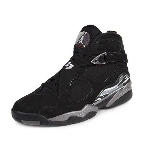 8728d9035fd Nike Jordan Men's Air Jordan 8 Retro Black/White/Lt Graphite - Import It All