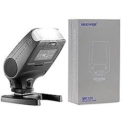 Neewer NW320 TTL LCD Display LED-Assistive Preview Focus Flash Speedlite for Panasonic Lumix DMC GF7 GM5 GH4 GM1 GX7 G6 GF6 GH3 G5 GF5 GX1 GF3 G3, Olympus OM-D E-M5 II E-M10 E-M1 PEN E-PL7 E-P5