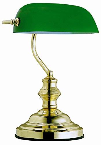 Globo-Tischleuchte-Bankerlampe-messing-Glas-grn-Schalter-1-x-60-W-E27-H-36-cm-T-25-cm-2491