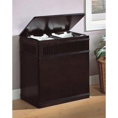 Wood Laundry Basket Storage Hamper Bedroom Canvas Liner front-309928