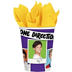 One Direction 9oz Cups 8ct from Amscan