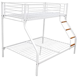 Homcom Bunk Bed Single Double Triple Metal Sleeper Bed Children Kid Frame Furniture White