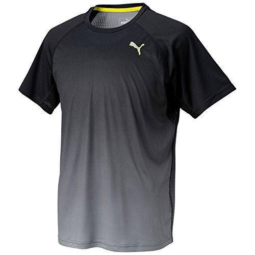 (プーマ)PUMA IGNITE ショートスリーブ Tシャツ 513687 02 ブラック/クウォーリー L