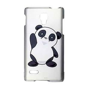 SODIAL(R) Gummiertes Panda Design Schutzhuelle Handytasche Etui Schale fuer LG Optimus L9 P769 / P760 (T-Mobile)