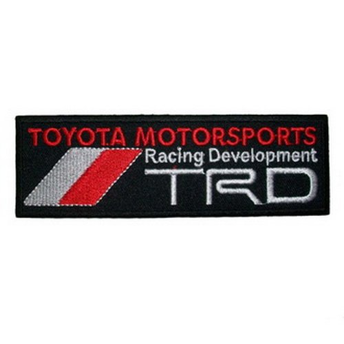 Toyota trd embroidered iron on patch sew car logo