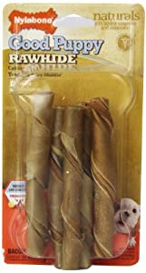Nylabone Enhanced Rawhide Roll Puppy Treats, Bacon, 5 Count