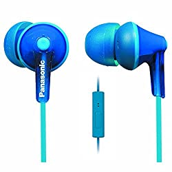 Panasonic RP-TCM125-A In-Ear Headphones with Mic Blue
