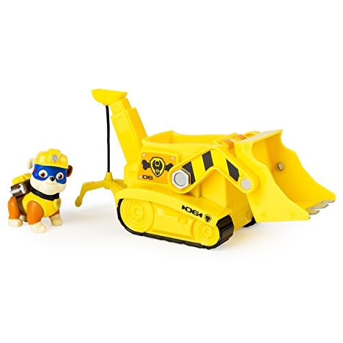Paw Patrol Super Pup Rubble's Crane, Vehicle and Figure (works with Paw Patroller) - 1