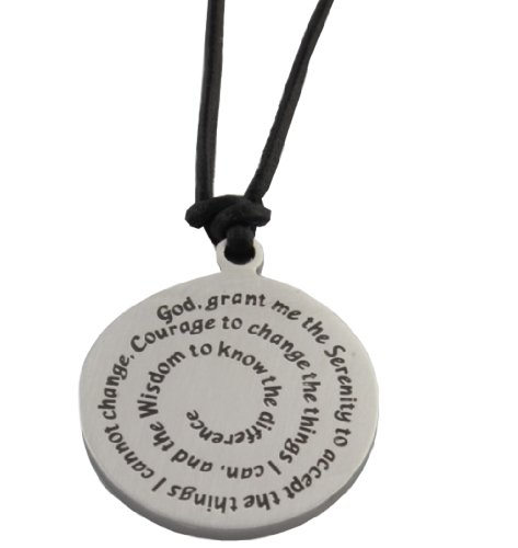 Jerusalem Jewelry Serenity Prayer Medallion Leather Necklace at Sears.com