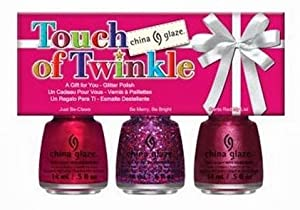 China Glaze 3 Piece Holiday Set, Touch of Twinkle