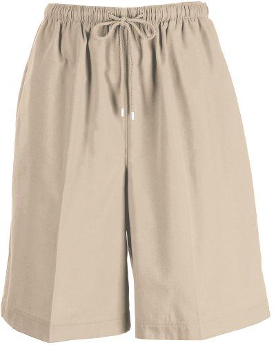 Coral Bay Womens Twill Drawstring Shorts Large Oxford tan Women 40 Casual Shorts
