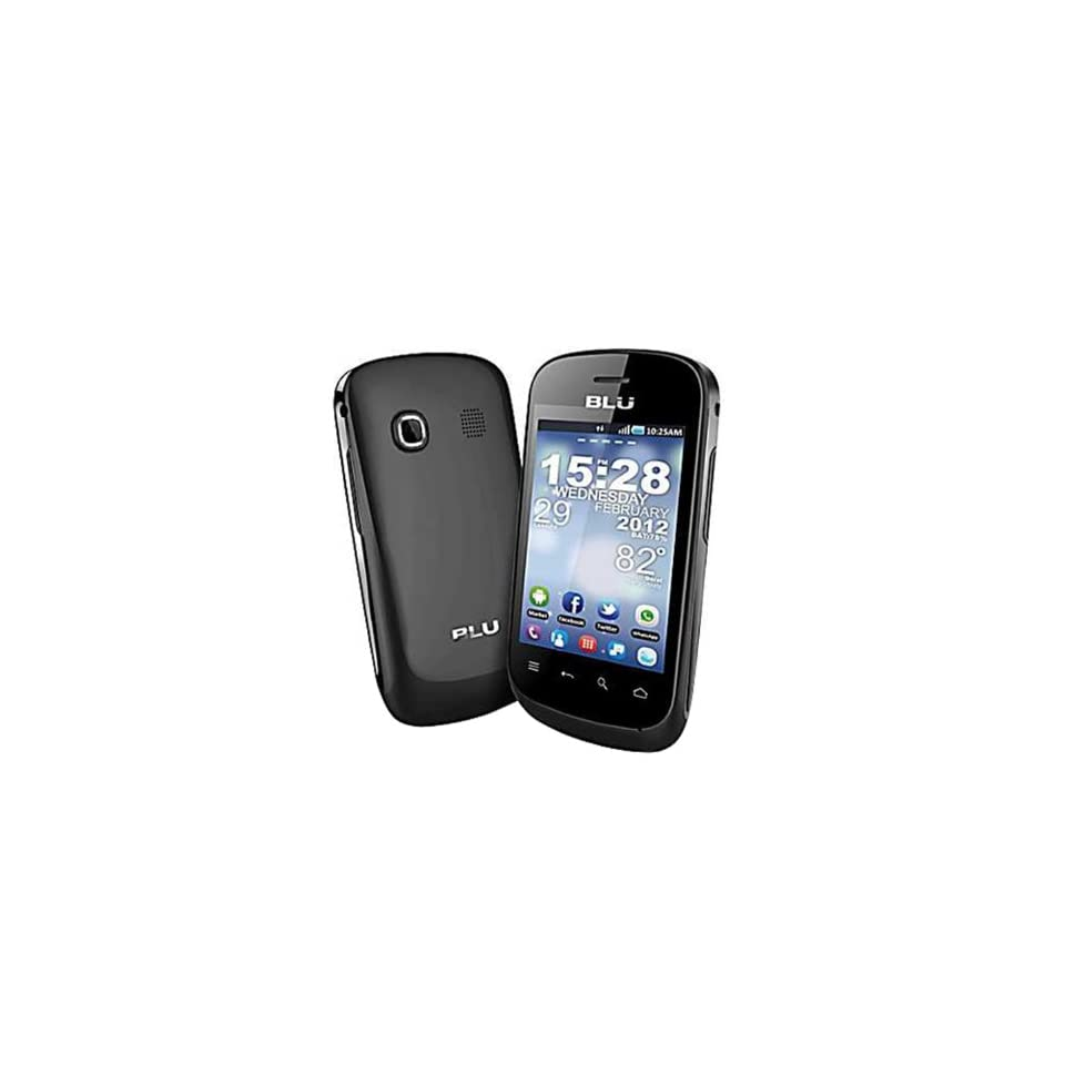 BLU Dash 3.2 D150a Unlocked GSM Phone with Dual SIM, Android 2.3 OS, Touchscreen, 1.3MP Camera, Video, GPS, Wi Fi, Bluet