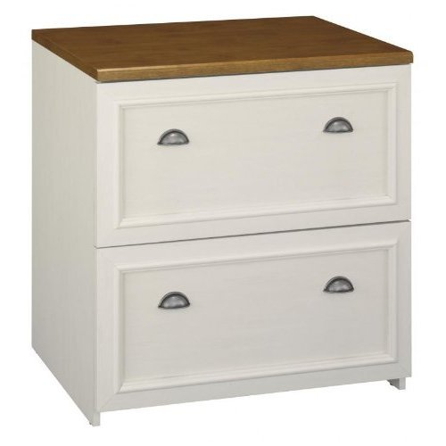 Bush Furniture Fairview 2 Drawer Lateral Wood File Cabinet in White