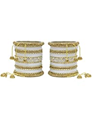MUCH MORE Ethnic Collection Charming Bangles With Zircons Made Kada For Women Wedding Jewelry - B01KVMU8TE