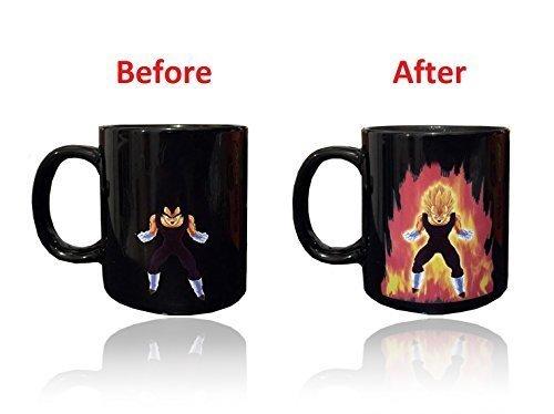 Dragon Ball Z tazza mug da caffè termosensibile, in grado di cambiare colore, Ceramica, nero, 11oz