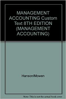 Management accounting and suggested articles text