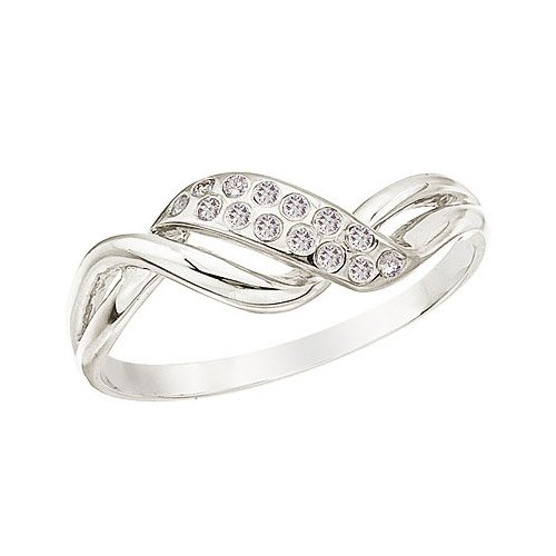 14K White Gold and Diamond Promise Ring (Size 4.5)