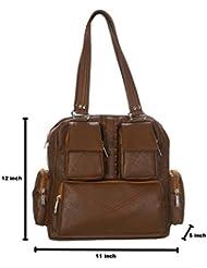 Disha Women's Shoulder Handbag Brown SBT143