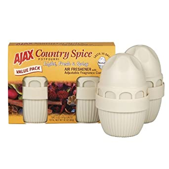 Air Freshener, Country Spice Potpourri, Solid, 5 oz, 2/Pack - 4705