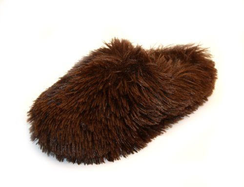 Image of Luckers Women's Soft Fur Slippers, Brown (B008N282T8)