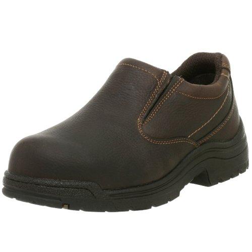 Timberland PRO Men's 53534 Titan Safety-Toe Slip-On,Camel Brown,11.5 M