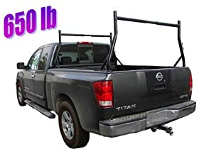 TMS PICK-UP-RACKu00a0650-Pound Adjustable Universal Fit 2 Bars Utility Ladder Truck Pick Up Rack