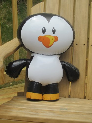 Set of 2 Adorable Inflatable Penguin Pals, each 24 inch / Party / Favor / Decor / Prize/ Giiveawayy