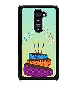 Birthday Cake 2D Hard Polycarbonate Designer Back Case Cover for LG G2 :: LG G2 D800 D802 D801 D802TA D803 VS980 LS980