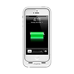 mophie Juice Pack Air Charging Case for Apple iPhone 5 - White (1700mAh)