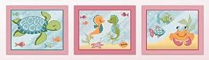 Pink Ocean Under the Sea Nursery Art Prints