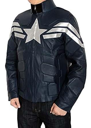 Super Hero The Winter Soldier Captain America Jacket For Mens Blue BontonWear