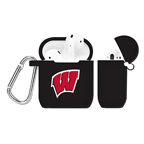 NCAA Wisconsin Badgers Black AirPod Case