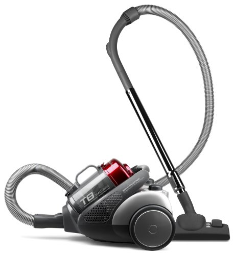 Electrolux ZT3520UK T8 Bagless Cylinder Vacuum Cleaner, Dark Grey and Red Metallic